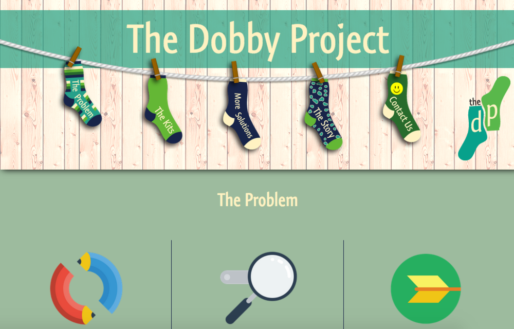 A sceenshot of The Dobby Project website.