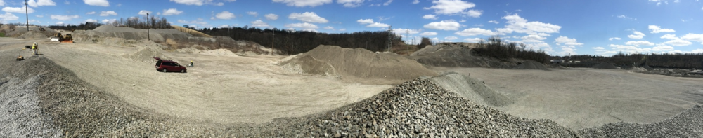 A small slice of this LaFarge site contains both driving sites. LaFarge is a great example the healthy cooperation you see in the resurgent Pittsburgh business sector.