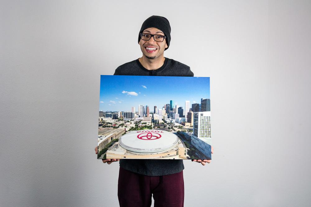 Toyota Center - Canvas Print