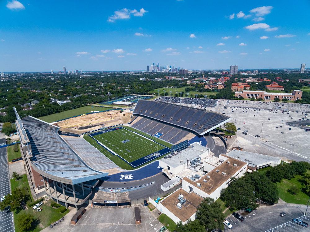 Rice Stadium - Canvas Print - Houston Sports Scene
