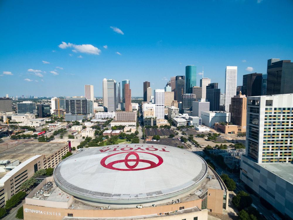 Toyota Center - Canvas Print - Houston Sports Scene