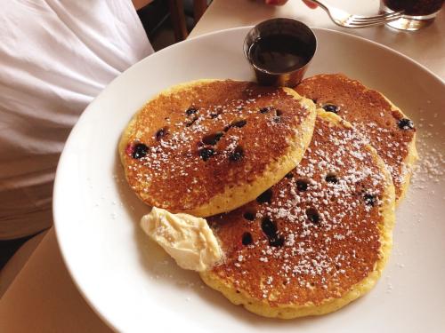 My blueberry lemon ricotta pancakes