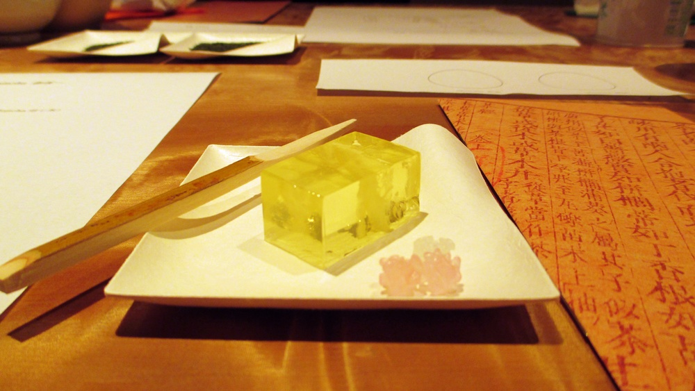 Lemon wagashi and kompeito