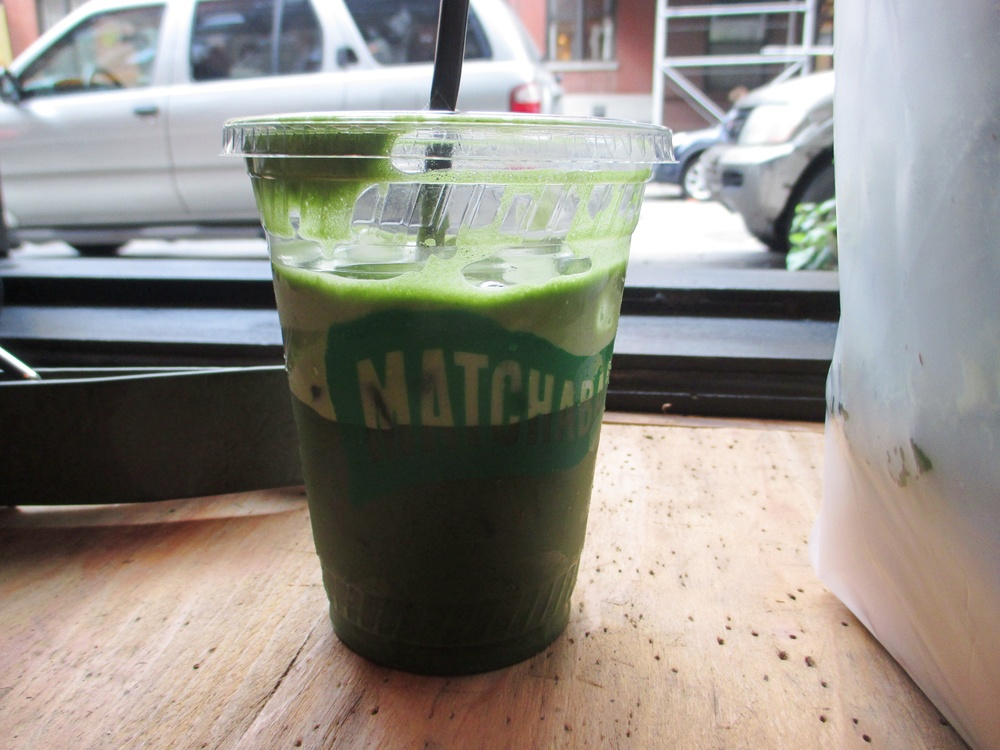 Large iced matcha