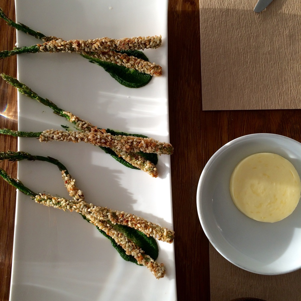 Compliments of the chef: sesame crusted asparagus