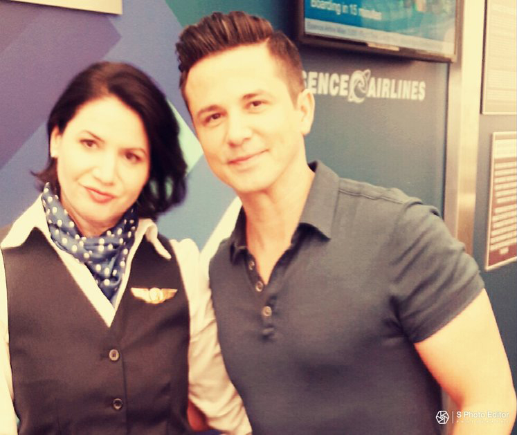 With Freddy Rodriguez
