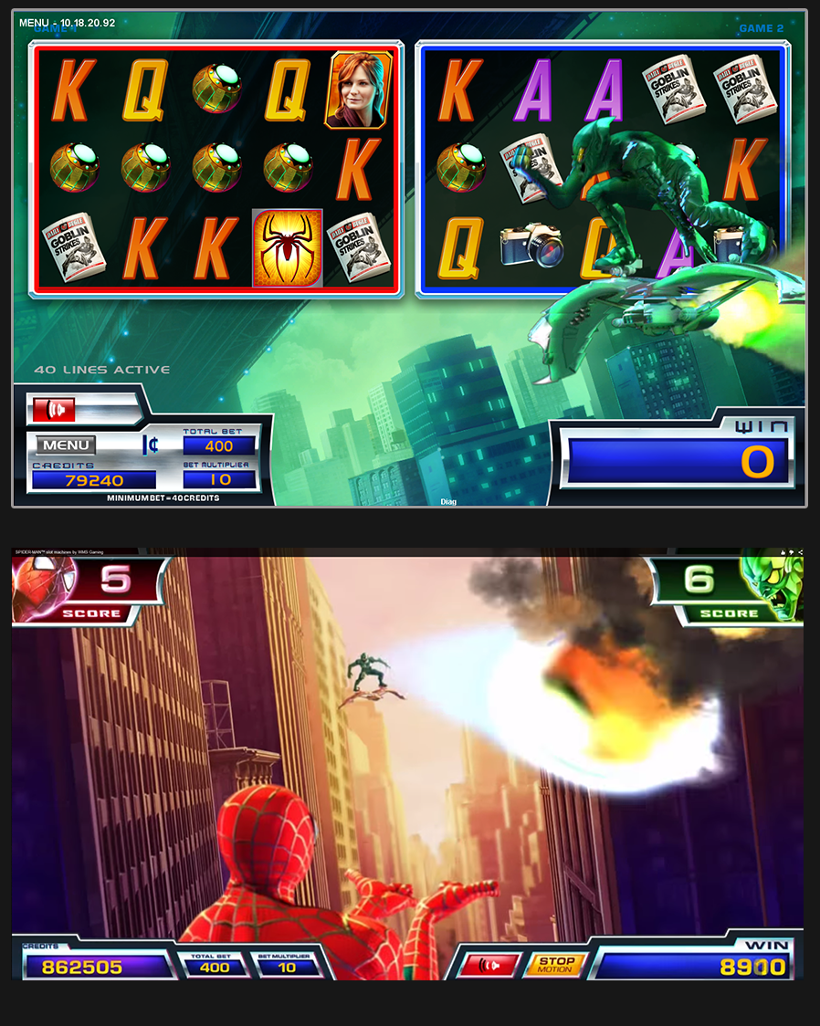 In-game screenshot. All art copyright WMS Gaming, Inc., a Scientific Games Company