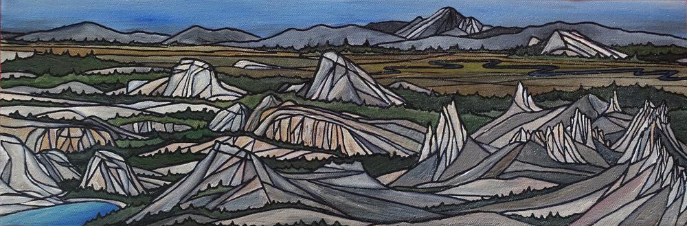 "Tuolumne Meadows, Yosemite. Acrylic 8"" x 24""CANVAS PRINT $150"