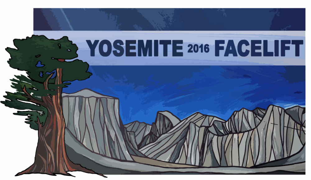 2016 Yosemite Facelift   Logo and T-Shirt Design