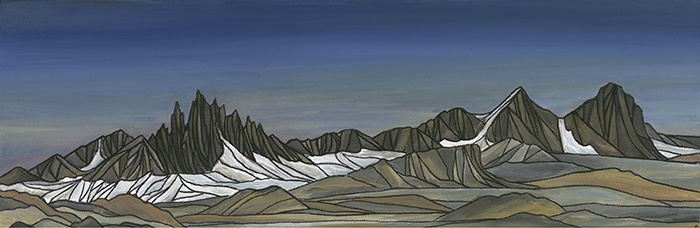 "MAMMOTH SKYLINE  Sierra Nevada  Acrylic 8"" x 24"""