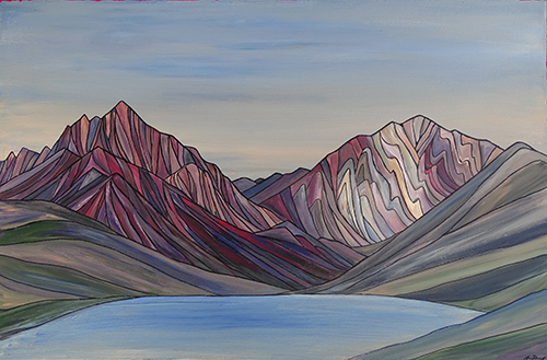 "CONVICT LAKE     Sierra Nevada     Acrylic  24"" x 36"""