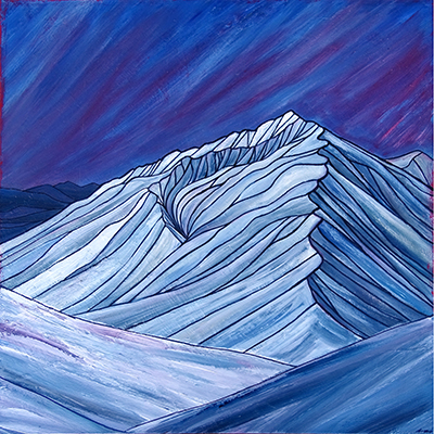 "MT TOM    Sierra Nevada     Acrylic  30"" x 30"""