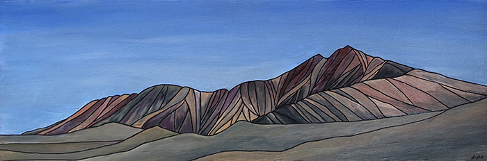 "WHITE MOUNTAIN      California     Acrylic  12"" x 36"""