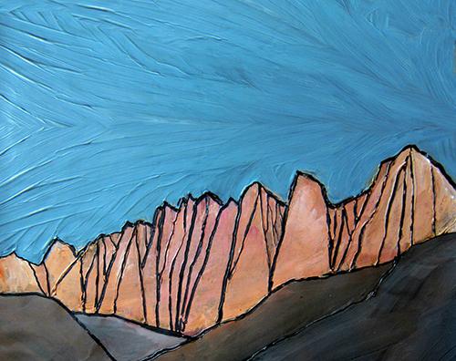 """MT WHITNEY   Sierra Nevada  Acrylic 11"""" x 14"""""""