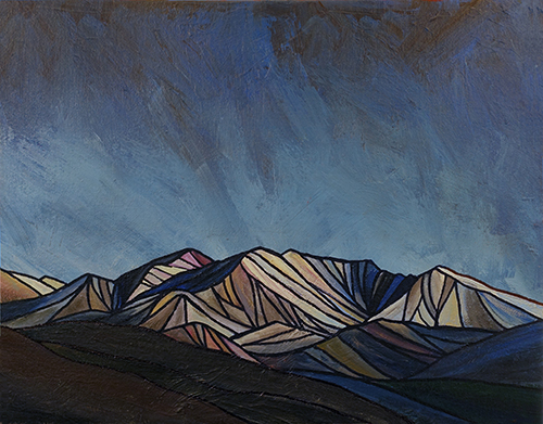 """KUNA CREST  Sierra Nevada  Acrylic 11"""" x 14"""""""