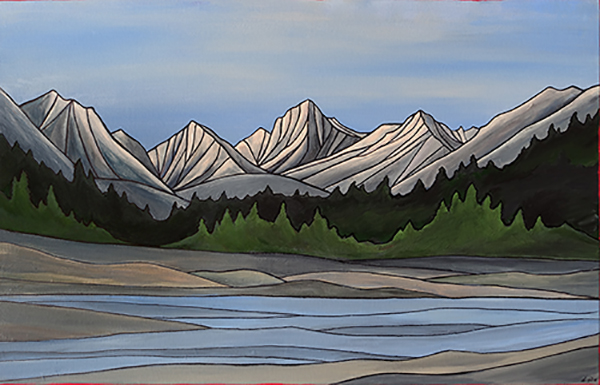 "ROCK CREEK     Sierra Nevada        Acrylic 24"" x 36"""
