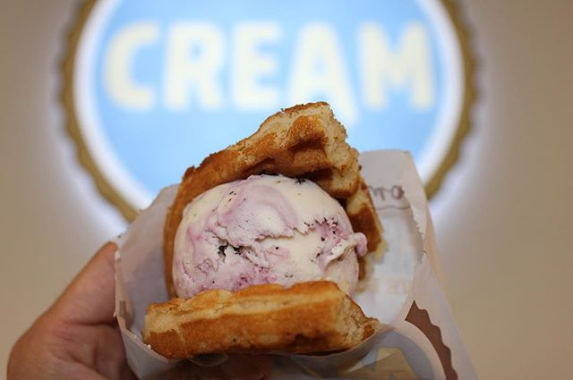 I bet you didn't know today is #NationalWaffleIronDay 🤔, but don't worry because @cream_nation in Concord has their brand new #Waffle ice cream 🍦 sandwich. Swing by today and cool down with this delicious treat 😋. ——————————————————————— #cityofconcord #concord #concordca #concordcalifornia #california #californialiving #eastbay #bayarea #foodie #foodstagram #buzzfeedfood #icecream #cookiesruleeverythingaroundme #yelpeastbay #eastbayeats