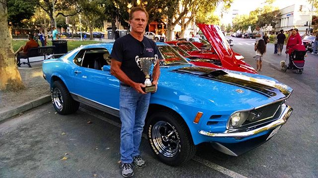 "Congratulations to Digger Sturgill for winning ""best of show"" with his beautiful 1970 Mach 1 @ford #Mustang 🚙 at this week's Cool Concord Cars. ———————————————————— #cityofconcord #concord #concordca #concordcalifornia #california #californialiving #eastbay #bayarea #contracosta #contracostacounty #cococounty #carshow #mustangmach1 #ford"