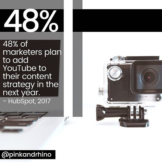 From @hubspot 48% of marketers plan to add YouTube to their strategy. Is this in your plan? If no, how come? . . . . . #hashtaghacks #pinkandrhino #socialmediatip #teachingtuesday #tiptuesday #instagramhacks #smm #socialtips #socialmediatips #instagramtip #doitforthegram #socialtip #smallbusinesstip #brandbuilding #marketing101 #marketingtip #socialmediamarketing #businesstips #marketingtips #marketingtip #socialmediaadvice #smallbusinessadvice #entrepreneurs #businessowner #localbusiness #localbusinesstips #localyyc #girlboss #solopreneur #ladypreneur