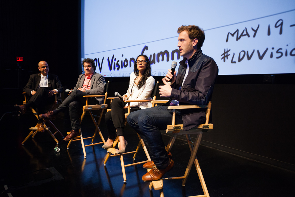 Evan Nisselson, LDV Capital, Andrew Weissman, Partner, Union Square Ventures, Anu Duggal, Founding Partner, Female Founders Fund, Andrew Cleland, Managing Partner, Comcast Ventures [L-R] ©Robert Wright/LDV Vision Summit