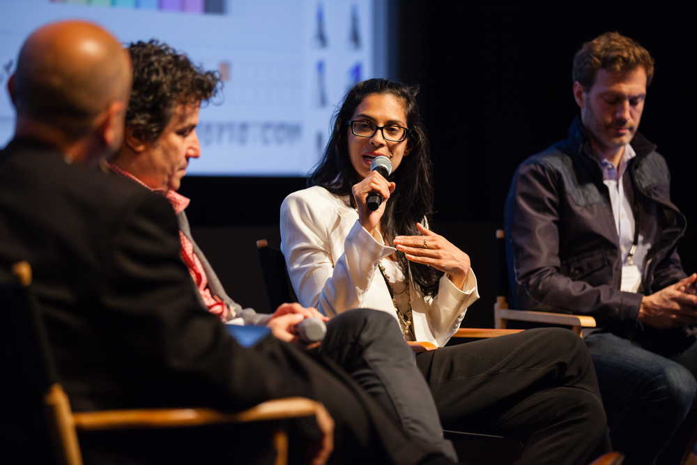 Evan Nisselson, LDV Capital; Andrew Weissman, Partner, Union Square Ventures; Anu Duggal, Founding Partner, Female Founders Fund; Andrew Cleland, Managing Partner, Comcast Ventures [L-R] ©Robert Wright/LDV Vision Summit