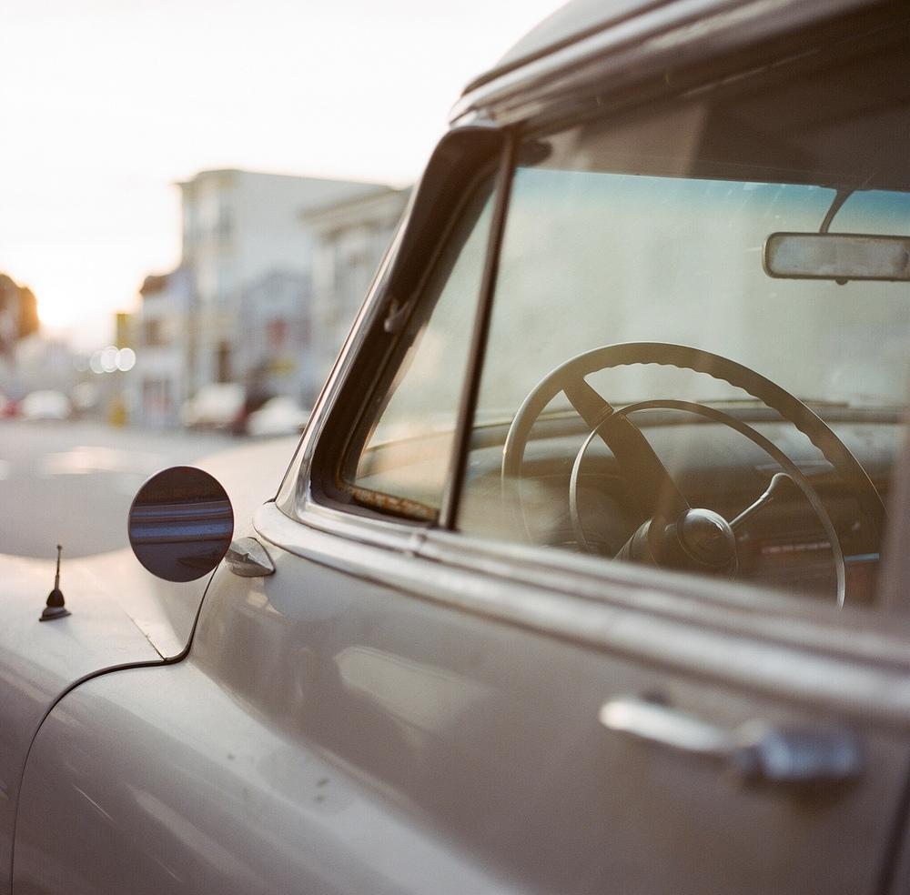 Old Car, Mission Street, SF: Hasselblad 503cw, Kodak Portra 400 ©Bijan Sabet