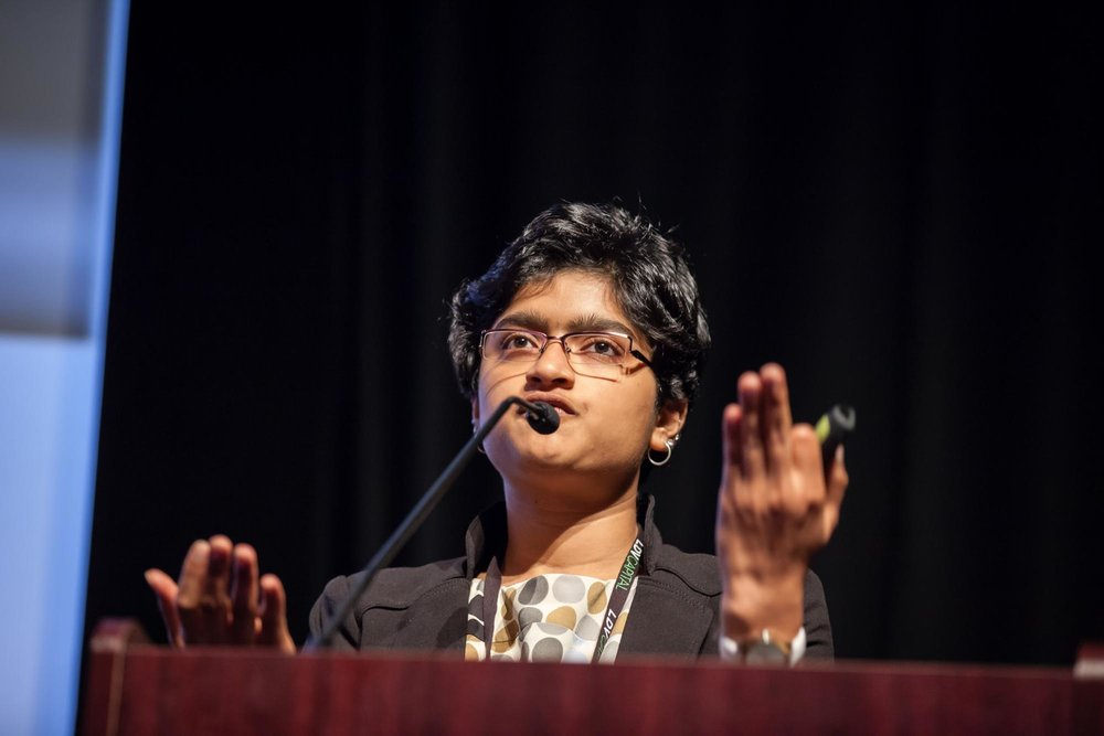 "Divyaa Ravichandran, from CMU and she showcased her project ""Love & Vision"" ©Robert Wright/LDV Vision Summit"