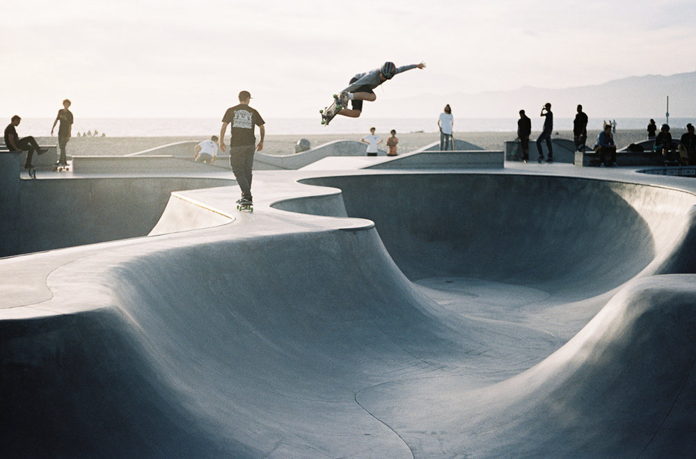 Skateboard Park, Venice, California. Leica M3, Kodak Portra 400 © Bijan