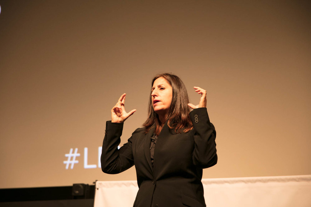Keynote Day 1:  Godmother of VR Delivers Immersive Journalism to Tell Stories That Hopefully Make a Difference and Inspire People To Care,  Nonny de la Peña, Godmother of VR, Embelmatic ©Robert Wright/LDV Vision Summit