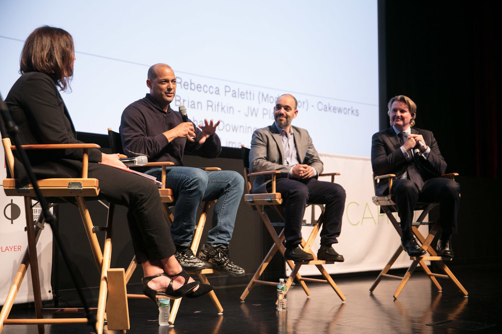 Panel Day 2:  What's On Now?   Moderator: Rebecca Paoletti, Cake Works, CEO with Panelists: Brian Rifkin, JW Player, Co-Founder, SVP Strategic Partnerships, Michael Downing, Tout, Founder & CEO, Orlando Lima, Viacom/VH1, VP Digital ©Robert Wright/LDV Vision Summit