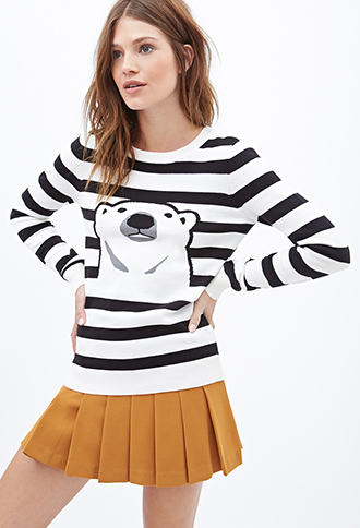Striped Polar Bear Sweater