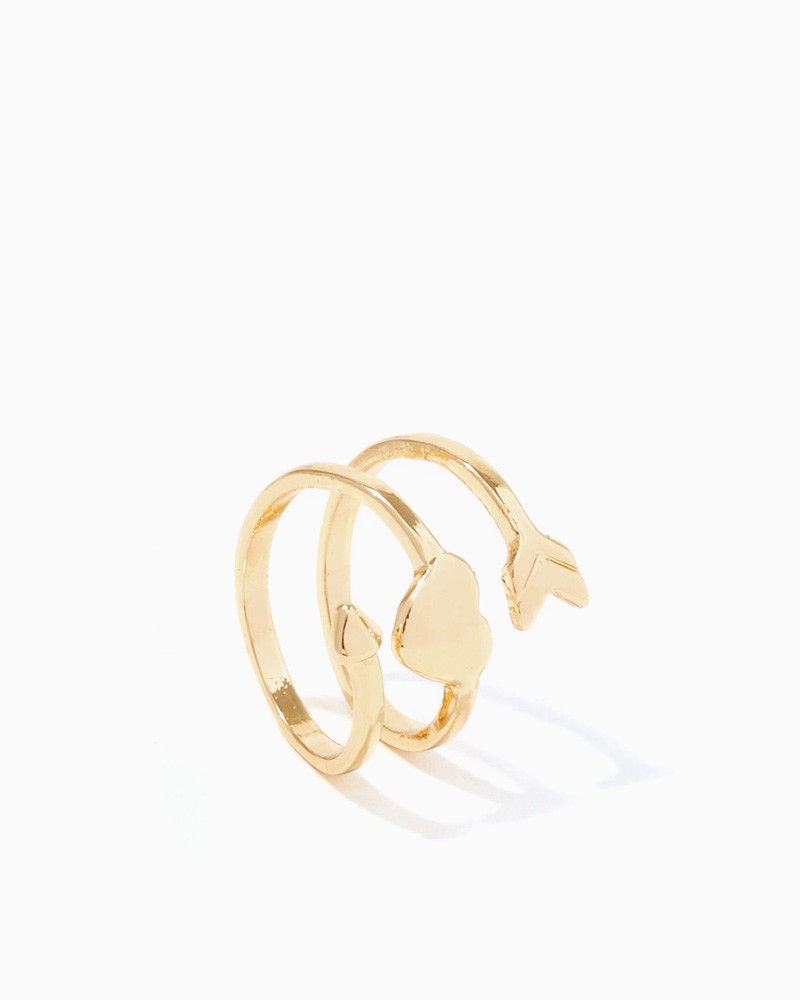Heart's Aflutter Midi Ring