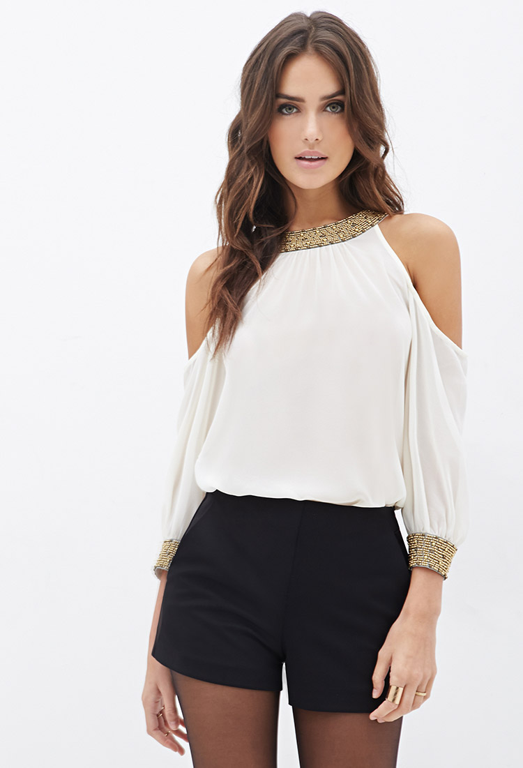 Forever 21 Cutout Blouse