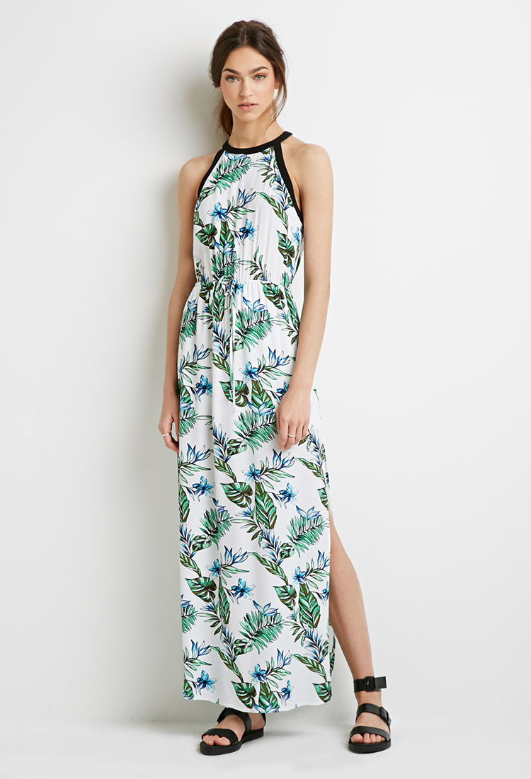 Forever 21 Tropical Print Maxi