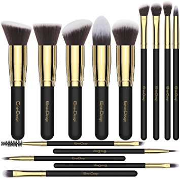 Makeup Brushes EmaxDesign 14 Pieces Professional Makeup