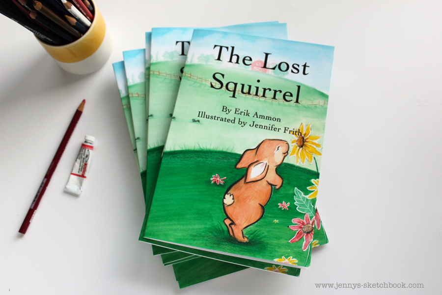 The Lost Squirrel - Book 2 in the Adventures of Kona and his Friends.  Written by Erik Ammon.  Illustrated by Jennifer Frith.