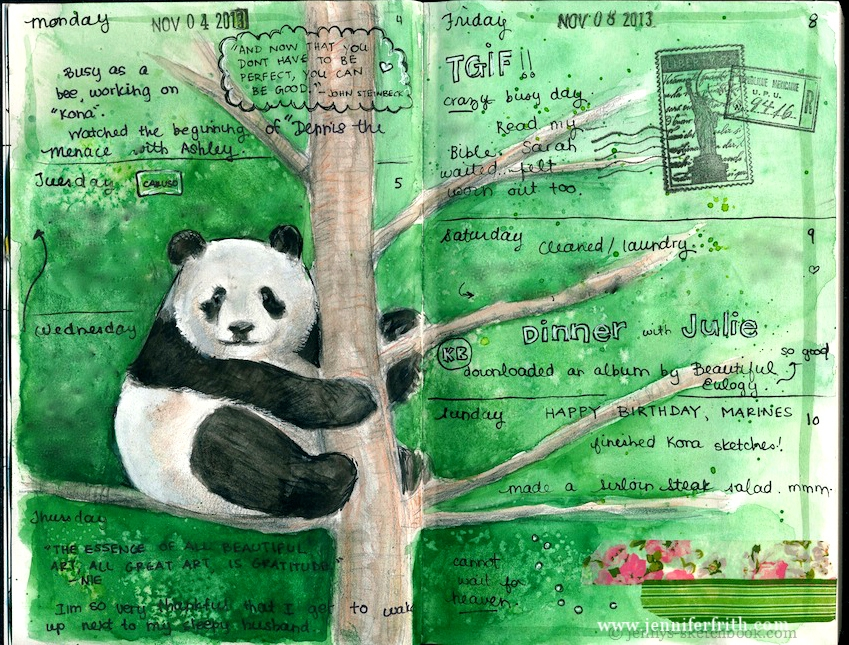 sketchbooking courses by Jennifer Frith