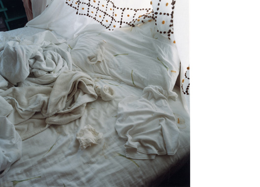 Untitled   (unmade bed)  C-print