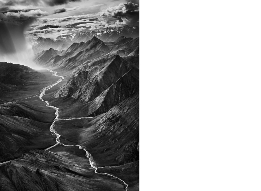 Eastern Part of the Brooks Range, Alaska, USA (Vertical), 2009  24 x 20 inches  Gelatin silver print