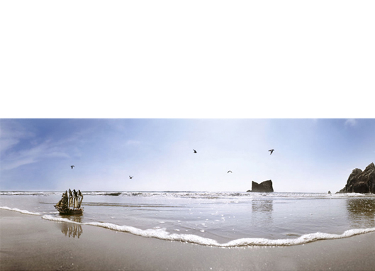 Desembarco, 2011  26 x 63 inches Archival pigment print, 1/8