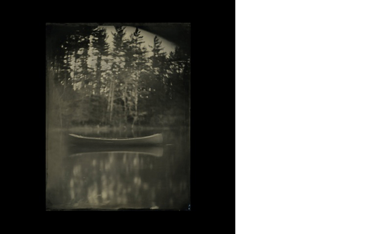CURTIS WEHRFRITZ  Lost Canoe   11 x 14 inches  Wet Plate Collodion