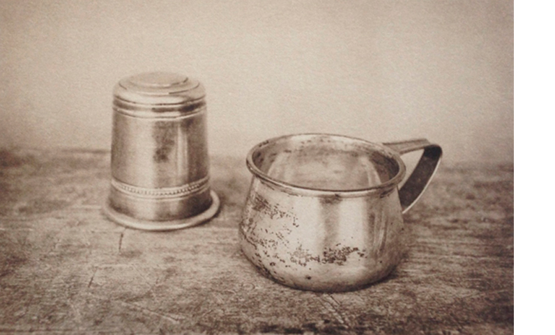 LISA BLAIR  Creamer Jigger   7 x 9.5 inches framed  Platinum / Palladium print, Edition 5