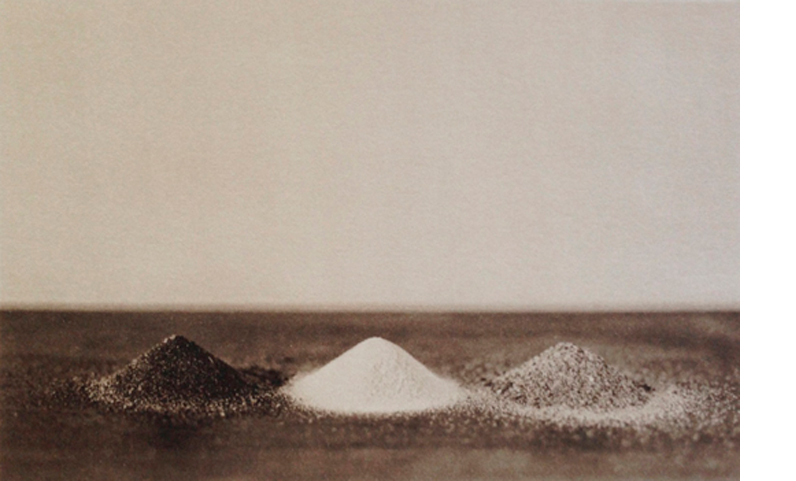 LISA BLAIR  Three Sands, 2013   (Atalaya, White Sands, Glenburnie)  7 x 9.5 inches framed  Platinum / Palladium print, edition 5