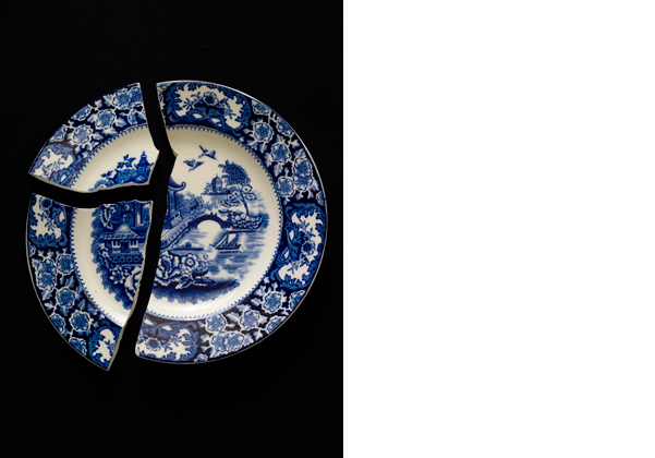 Broken plate blue   50 x 40 inches  Archival pigment print