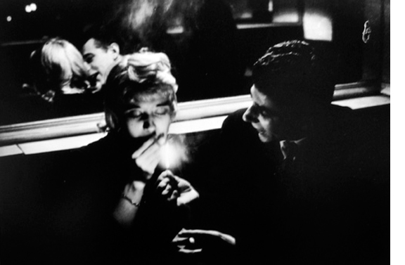 Cafe Le Bidule   1957  11 x 14 inches  Gelatin silver print, printed later