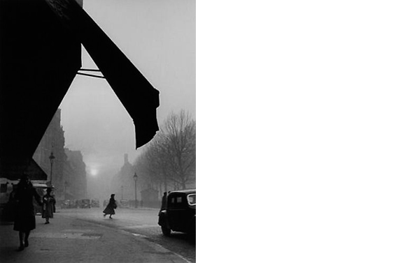 Carrefour Sevres Babylone   Paris, 1948  14 x 11 inches  Gelatin silver print, printed later