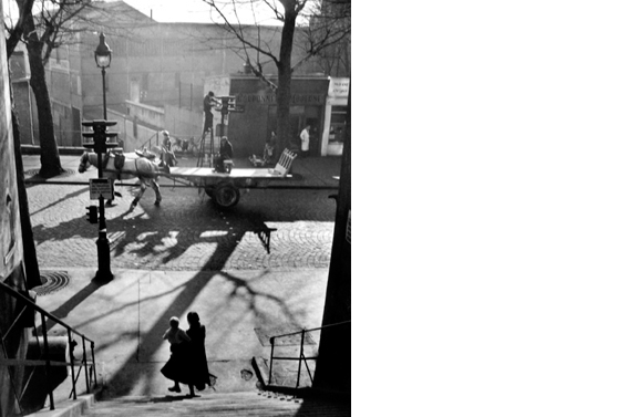 Avenue Simon Bolivar   Paris, 1950  14 x 11 inches  Gelatin silver print, printed later