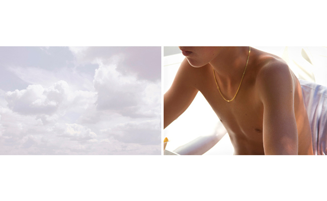Untitled Diptych (clouds and Victor)   2010-11  20 x 30 inches each  Archival pigment print