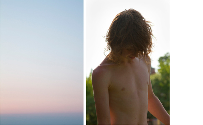 Untitled (sky & Dimitri)   2010-11  30 x 20 inches each  Archival pigment print