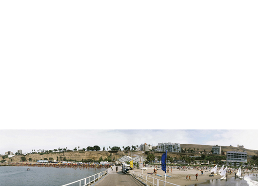 Playa Publica / Playa Privada, Lima   22 x 97 inches  Archival pigment print Edition 3/7